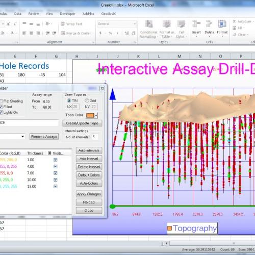 XLCoreBlock-Visualizador de Perforaciones y Estimador de Recursos para Excel