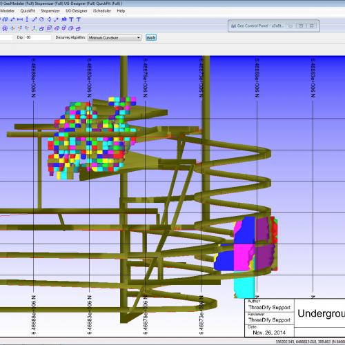 uCAD-underground mine design