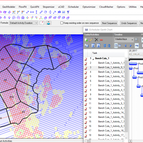 iScheduler – Integrated and Interactive Mine Scheduler for Mine Production Scheduling