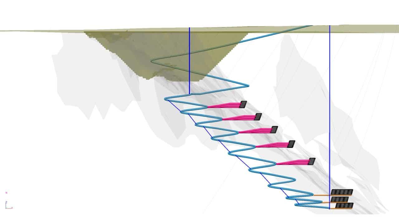 UG Mine Design with Ventilation uCAD